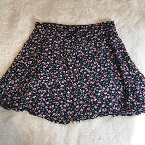 Button up flower skirt